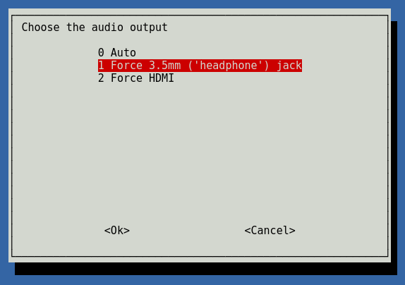 raspi-config audio