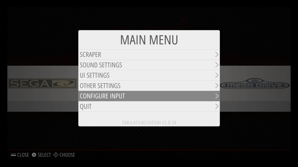 Retropie Main Menu