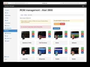 Webgrensesnitt for administrasjon av Recalbox