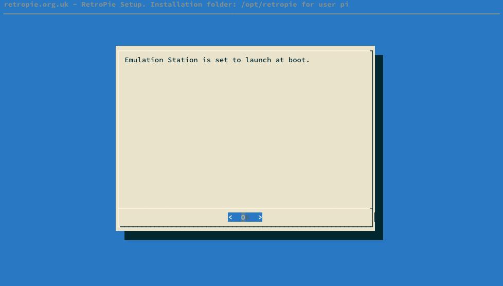 RetroPie-Setup autostart OK