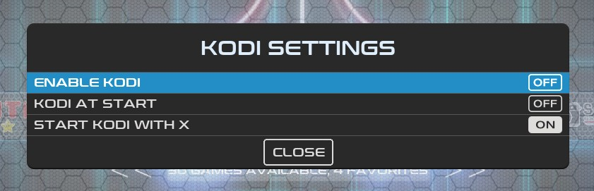 Recalbox Kodi Settings