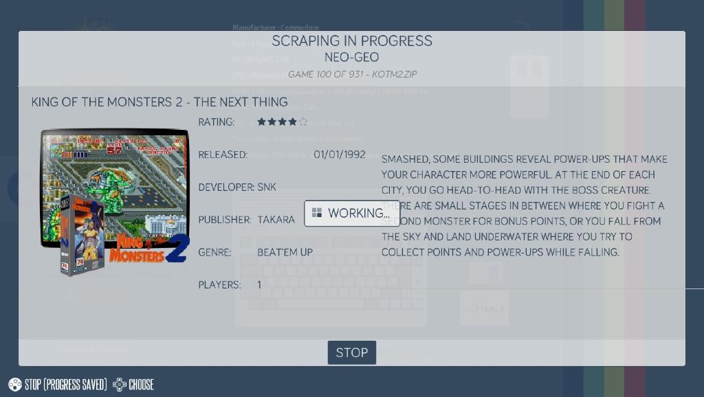 Scraping på Recalbox