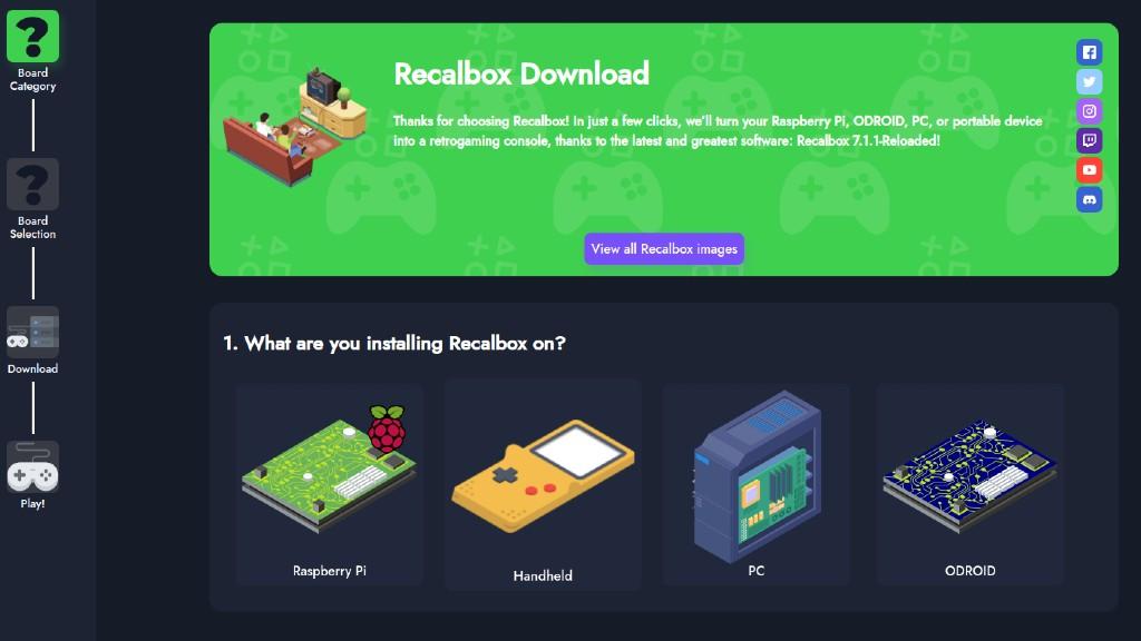 Nedlasting av Recalbox