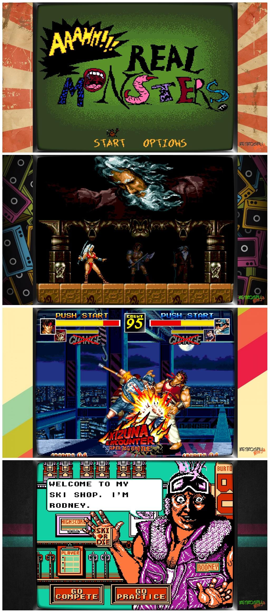 Eksempler på Retrospill.ninja rammer